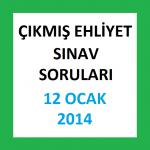 Ehliyet Sınav Soruları - 12 Ocak 2014