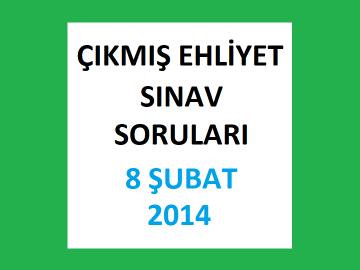 Ehliyet Sınav Soruları - 8 Şubat 2014