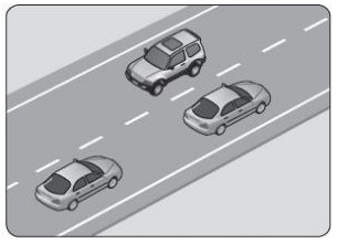 Şekildeki kara yolu bölümünde görülen kesik çizginin anlamı nedir?