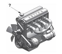 Şekilde soru işareti (?) ile gösterilen kapaktan motora ne konulur?