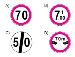 Aşağıdakilerden hangisi azami hız sınırlaması anlamındadır?