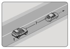 Aksine bir durum yoksa saatte 90 kilometre hızla seyreden şekildeki 1 numaralı aracın, önündeki araçla arasında en az kaç metre takip mesafesi olmalıdır?