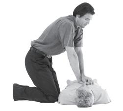 Kalp atımları alınamayan yetişkin bir insana, şekildeki gibi pozisyon verilerek yapılan dış kalp masajında, göğüs kemiğine uygulanan baskı ne kadar çökme sağlamalıdır?