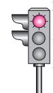 Aksine bir durum yoksa, şekildeki gibi ışıklı trafik işaret cihazında kırmızı ışığın yandığını gören sürücü ne yapmalıdır?