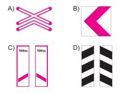 Aşağıdakilerden hangisi köprü yaklaşımını (sağ, sol) gösteren işaret levhasıdır?