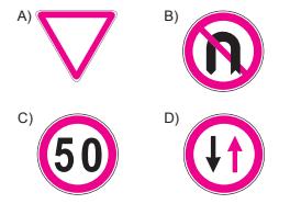 Aşağıdakilerden hangisi tali yoldan kavşağa gelindiğini bildirir?