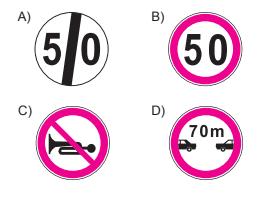 Aşağıdakilerden hangisi hız sınırlaması sonu trafik işaretidir?