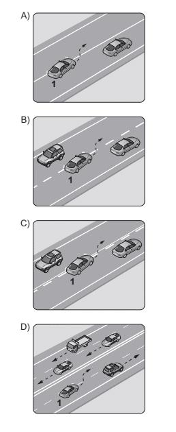 Aşağıdakilerden hangisinde 1 numaralı taşıt sürücüsünün yaptığı asli kusurlu hâllerden sayılır?